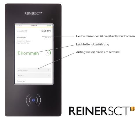 Reiner SCT bietet mit dem neuen touchfähigen Terminal ein noch einfacheres Buchungssystem